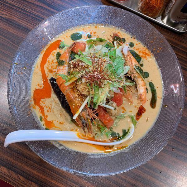 「海老味噌冷やし麺」@らー麺 あけどやの写真