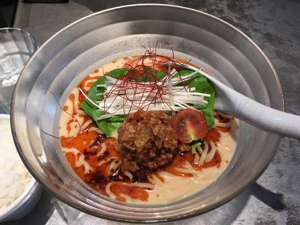 「冷やし担々麺 + ミニライス」@麺 やまらぁの写真