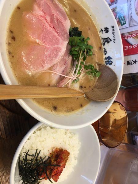 「とりそば醤油キムチめし」@麺や 鳥の鶏次の写真