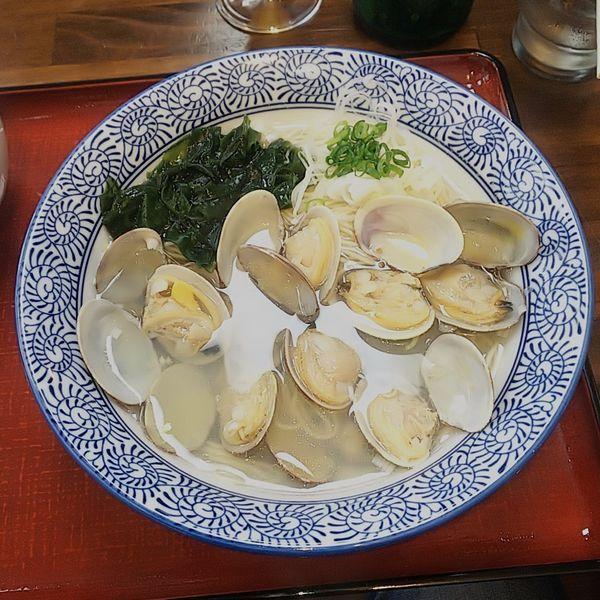 「塩竃産 黒あさりの潮麺」@潮の音の写真