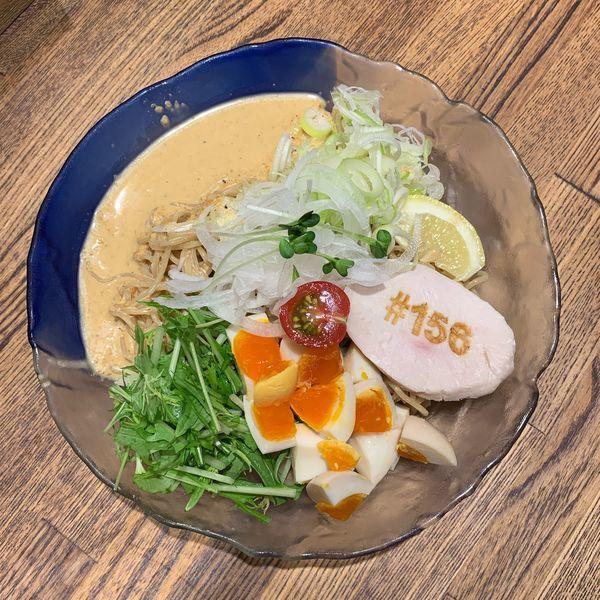 「冷やし鶏そば」@鶏そば十番 156 ICHIKORO 麻布十番店の写真