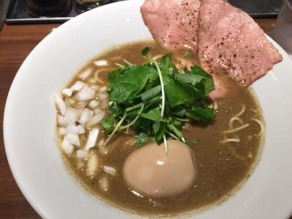 「濃厚烏賊煮干しそば 味玉付き」@麺屋 ねむ瑠の写真
