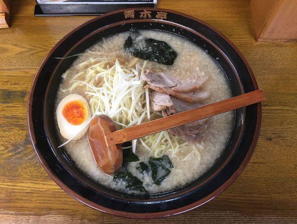 「定番 ネギチャーシューメン 醤油 中」@ラーメン青木亭 川口店の写真