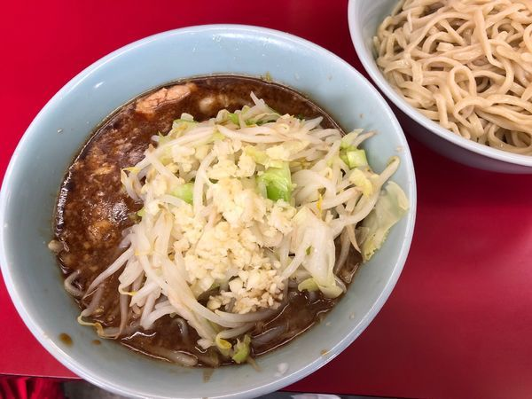 「ブったまつけ麺(ニンニク、ヤサイ)」@ラーメン二郎 中山駅前店の写真