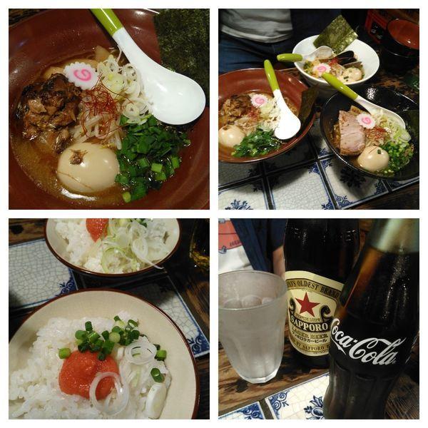 「サバ味噌らぁ麺+明太子ご飯+コーラ」@麺処いっ歩の写真
