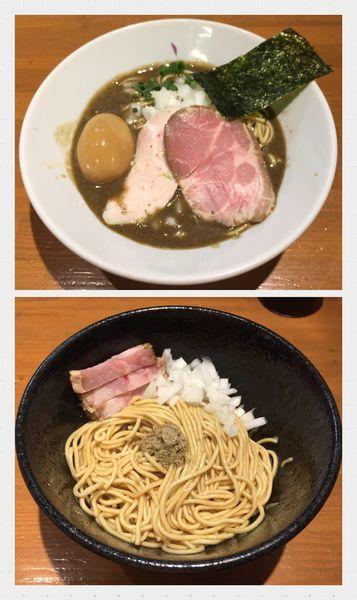 「味玉濃厚蕎麦+和え玉」@亀戸煮干中華蕎麦 つきひの写真