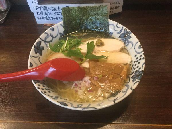 「【限定】鮪出汁の潮ラーメン(¥830)」@中華そば 東京ぐれっちの写真