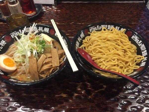 「味噌タンつけ麺(あつもり)+麺大盛+バター+メンマ 890円」@北のらーめん 美空の写真