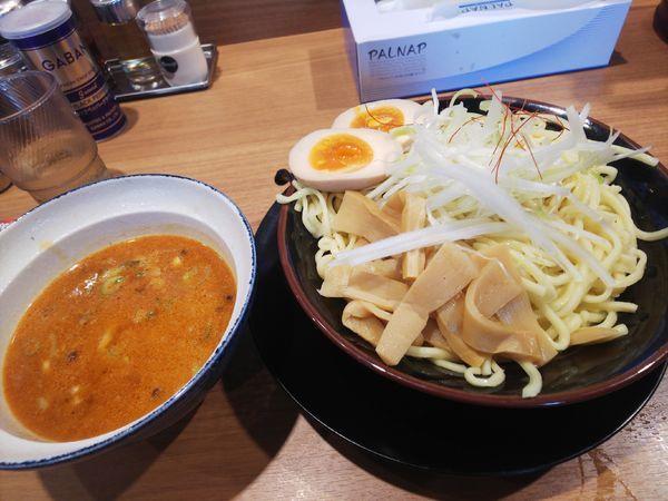 「(期間限定)シビカラ麻婆つけ麺790円」@横浜家系ラーメン 小作大和家の写真