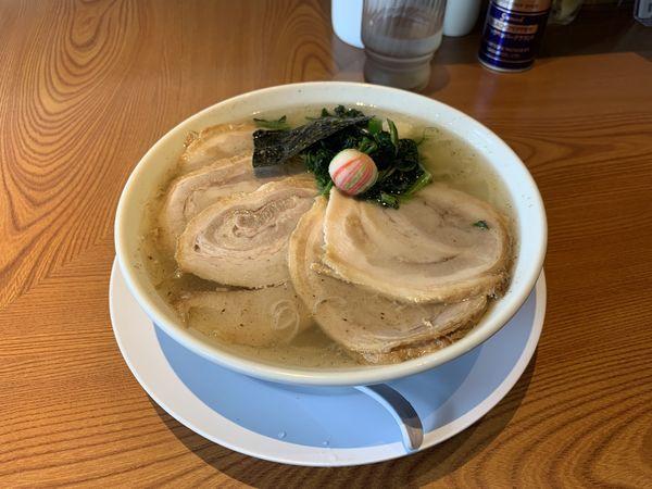 「チャーシュー麺(塩) 麺大盛り」@らぁめん 生姜は文化。の写真