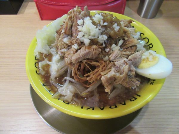 「豚そば(850円)+豚増し+野菜増し」@茨城豚そば 特龍 水戸堀町店の写真