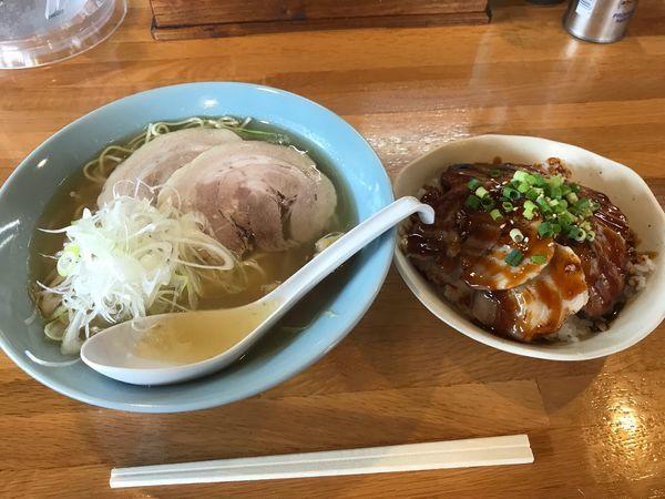 「塩ラーメン+焼豚飯700+330円」@らーめん川嶋の写真