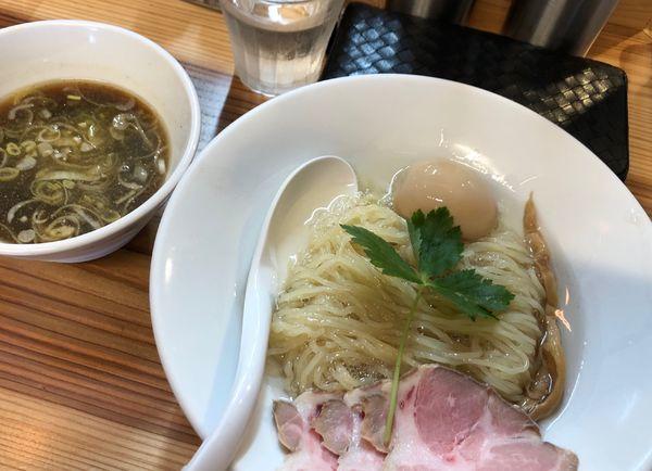 「昆布水煮干しつけ麺」@純水煮干し中華そば 匠庵の写真