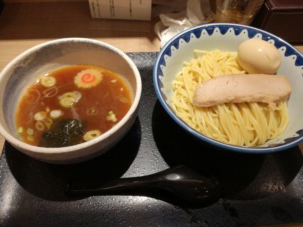 「もり半熟煮卵つけそば あつもり」@羽田大勝軒の写真