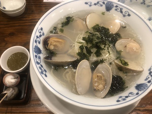 「貝だしラーメン・貝肝(850円)」@貝料理 梵厨の写真