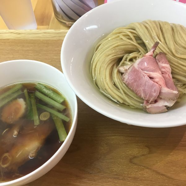 「昆布水つけ麺 醤油 大盛り」@らぁ麺 はんにゃの写真
