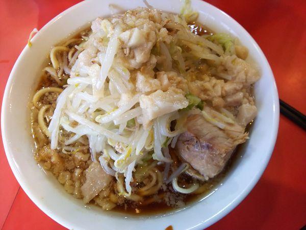 「麺少なめ ヤサイニンニクアブラ 700円」@ラーメン二郎 仙川店の写真