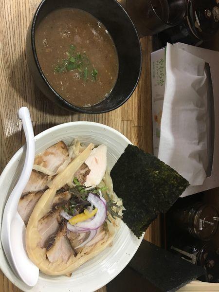 「魚介つけ麺+豚肉チャーシュー」@横須賀らぁ麺しろの写真
