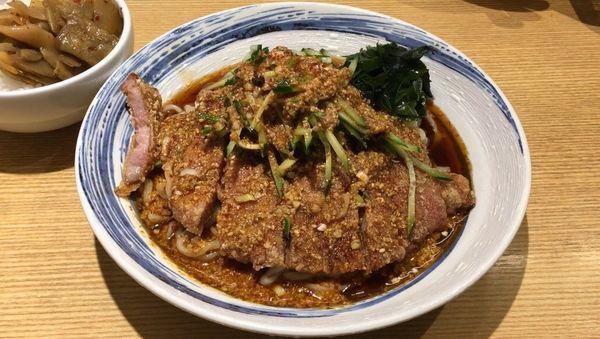 「排骨冷やし担々麺+サービスライス」@排骨担々 五ノ井の写真