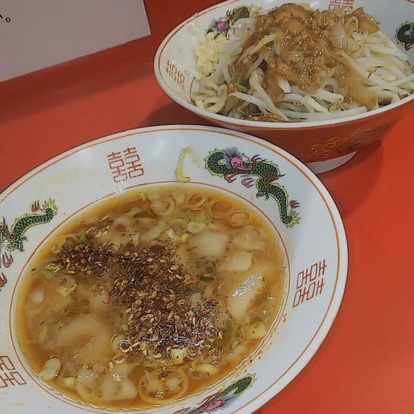 「つけ麺(麺少なめニンニク少しアブラ山椒)」@ラーメン英二の写真