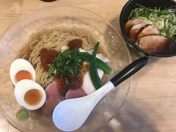 「【限定】冷やし鴨そば+鴨丼」@麺屋Mの写真