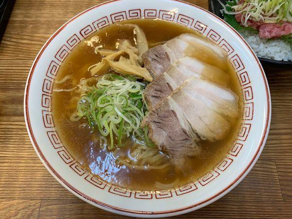 「しょうゆラーメン+ねきとろ丼」@喜多方食堂 麺や玄の写真