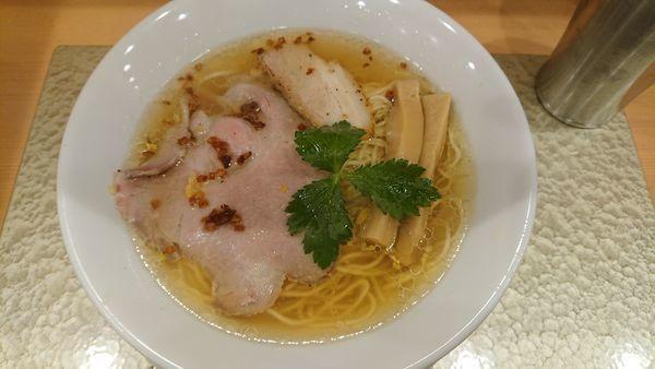 「黄金貝ラーメン 850円」@なにわ麺次郎の写真