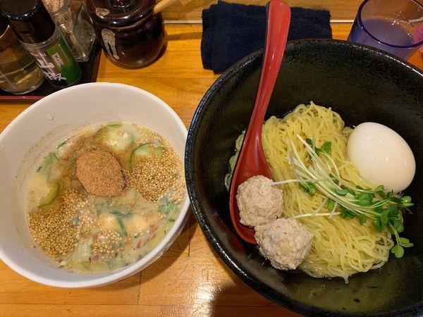 「夏季限定 冷や汁つけ麺(割り飯付き)」@つけ麺 しろぼしの写真