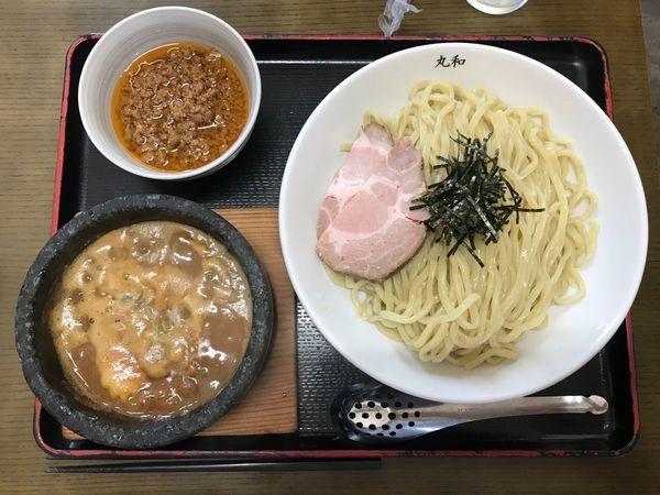 「特濃丸和つけ麺 台湾ミンチ 1,050円」@つけ麺 丸和 春田本店の写真