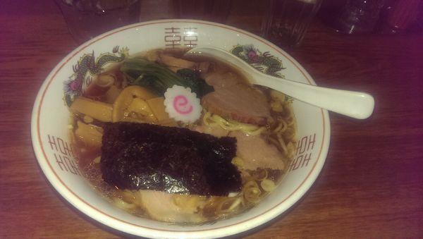 「生姜醤油ラーメン、大盛」@神保町 可以の写真