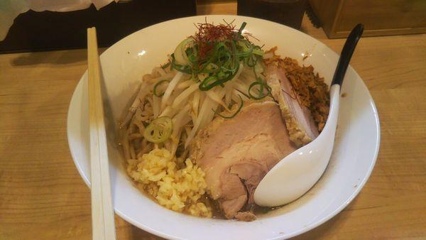 「【限定】M朗そば+中盛」@麺屋Mの写真