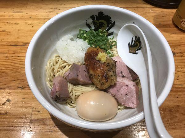 「フォアグラ油そば+クーポン味玉」@満鶏軒の写真