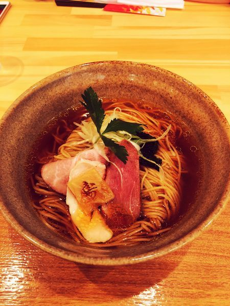 「貝とアゴだしの中華そば」@麺家 幸先坂の写真