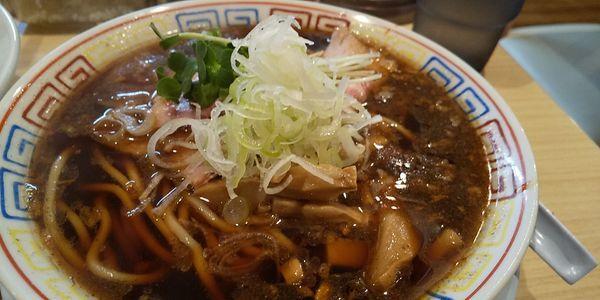 「さば醤油そば+天津飯」@サバ6製麺所 南森町店の写真