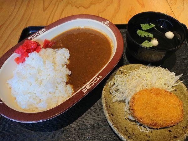 「カレーライス450円+コロッケ(クーポン)」@県民酒場 ダウドンの写真