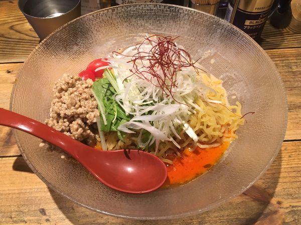 「冷やし担々麺+追い飯(サービス)」@麺屋 翔 本店の写真