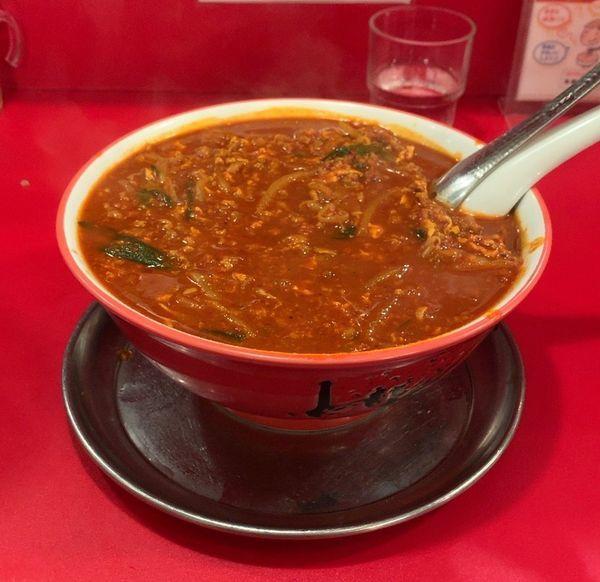 「から麺 30倍」@駅前中華そば すみたに 仙台分店の写真