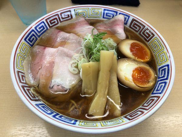 「特製昔ながらのらーめん + 大盛」@煮干鰮らーめん 圓の写真