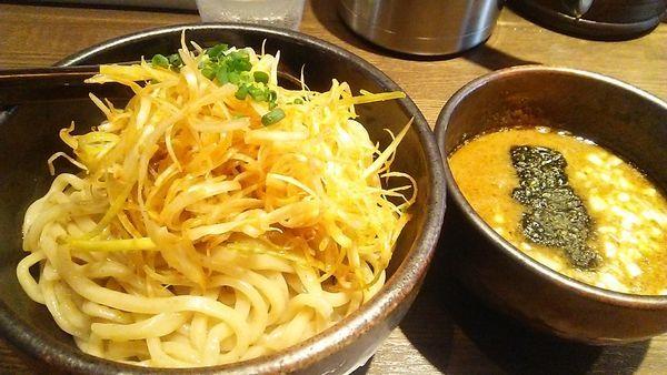 「つけ麺 800円+辛ネギ 100円」@麺屋 一路の写真