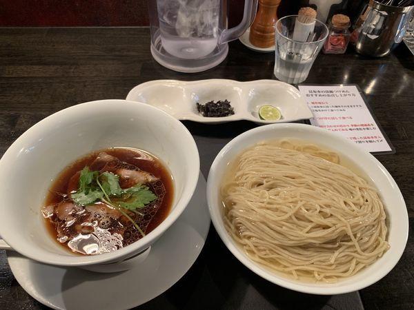「昆布水の淡麗つけ麺(醤油) 麺中盛り」@KaneKitchen Noodlesの写真