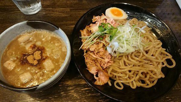 「つけ麺2玉 1000円」@綿麺の写真