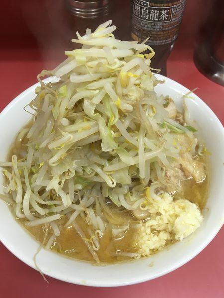 「ラーメン豚入り(ヤサイ、ニンニク)」@ラーメン二郎 ひばりヶ丘駅前店の写真