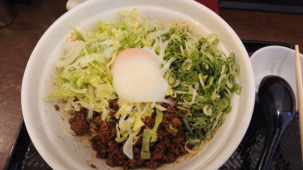 「汁無し担々麺(210g辛さ3)セット」@広島式 汁無し担担麺 湯島ひよこ堂の写真