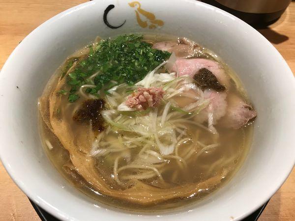 「真鯛と蛤の塩そば 900円」@SOBAHOUSE 金色不如帰 新宿御苑本店の写真