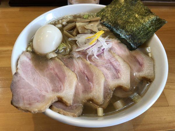 「チャーシュー麺塩大盛 味玉」@麺屋 信醸の写真