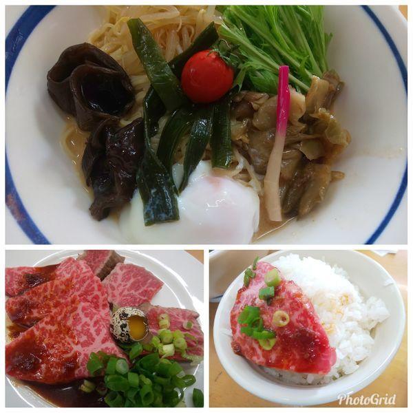 「胡麻タレ冷し② 和牛冷し中華 S」@MENYA 食い味の道有楽の写真