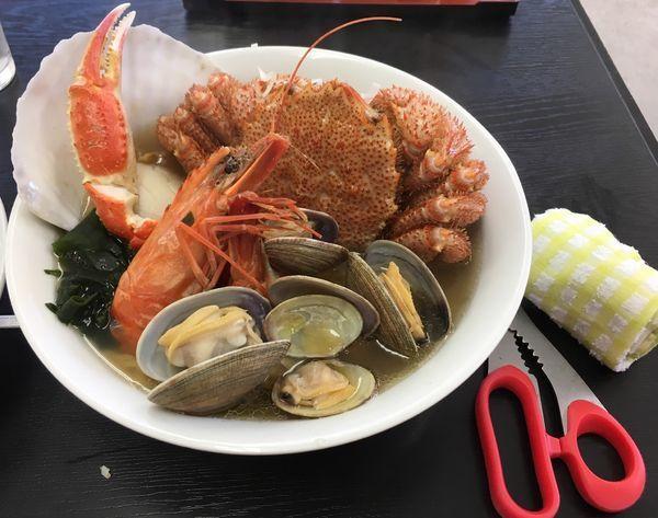 「海の幸ラーメン(1700¥)」@えんまん亭の写真