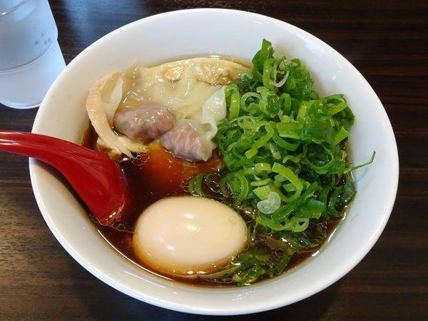 「九条ねぎ特製鶏の中華そば(1,050円)」@麺屋かなでの写真