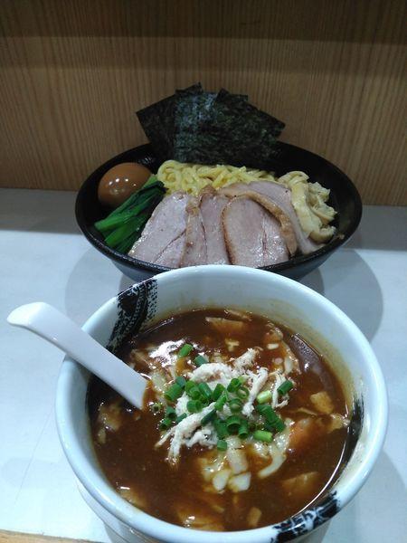 「【限定】カレーつけ麺大盛り+小ライス」@麺屋 扇 SENの写真