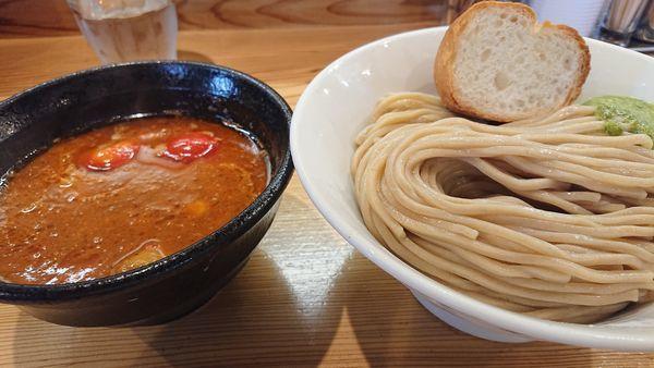 「海老トマトつけ麺     季節限定」@らーめん いつ樹 本店の写真
